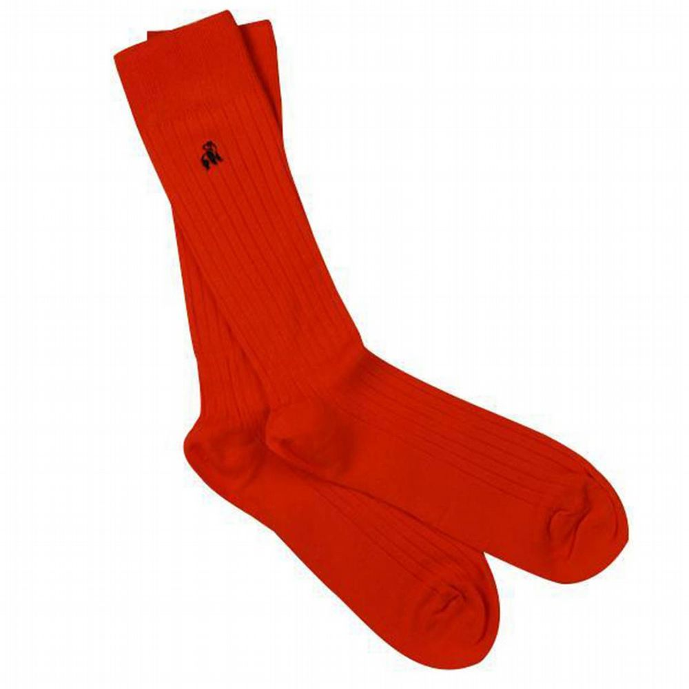 Bamboo Classic Red Socks